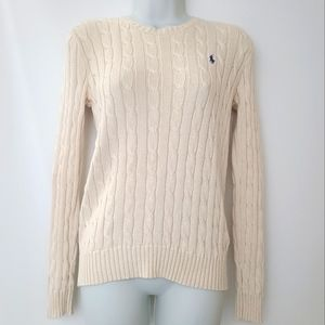 EUC Polo by Ralph Lauren Cream Cable Knit Sweater